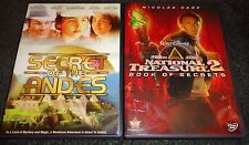 SECRET OF THE ANDES & NATIONAL TREASURE 2:BOOK OF SECRETS-2 movies-NICOLAS CAGE