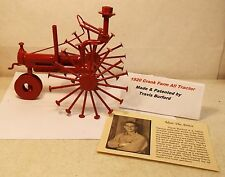 1920 Red Farmall Tractor Nuts Bolts Nails Hand Made Folk Art by Travis Burford