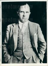 1933 Curtiss-Wright Pres Aeronautical Chamber Head Thomas Morgan Press Photo