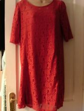 RED SIZE 14 LACY DRESS BY DOROTHY PERKINS