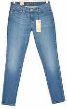NEW Levis SKINNY Medium Blue Demi Curve Low Rise Stretch Jeans Size 8 W27 L32