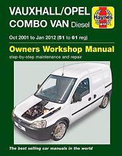 MANUALE Haynes 6362 VAUXHALL OPEL COMBO VAN 1.3 1.7 DIESEL 2001-Jan 2012