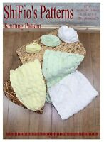 KNITTING PATTERN for BABY COCOON & HAT preemie, 0-3, 3-6mths  # 133 By ShiFio