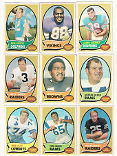 (9) 1970 TOPPS FOOTBALL STAR & ROOKIE CARD LOT-ALAN PAGE!!!