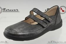 "^Womens FINN COMFORT ""JERES"" pewter leather Mary Jane shoes sz. 42 NEW!"