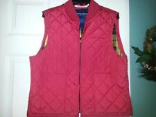 Women's Tommy Hilfiger Jeans Red Quilted Vest Size XL