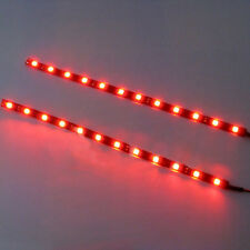 30cm High Power 5050 12 LED Car Motor Flexible Strip Lights Waterproof DC12V Red