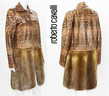 NEW ROBERTO CAVALLI PYTHON FUR FOX COAT JACKET 44