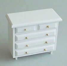 Dolls House Furniture:  White Chest of Drawers    12th scale
