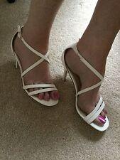 BNWB Pretty Strappy White Sandals by Ajvani - Size 5