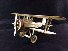 Laser Cut Wooden Bristol Bulldog Biplane 3D Model/Puzzle Kit