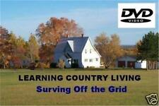 How to Live Off the Grid DVD Country Living Backwoods Water Solar Wind Power