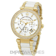 *NEW* MICHAEL KORS LADIES PARKER WHITE GOLD WATCH - MK6119 - RRP £229