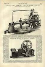 1887 Williams a vapore TIMBRO minerale Crusher Amalgamator TRAVE Piegatrice