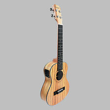 Caramel CT100 Zebra Wood Tenor Acoustic Electric Ukulele