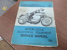 Vintage 1971 Lucas Service Manual Motorcycle Electrical Equipment 51 Pages 3152