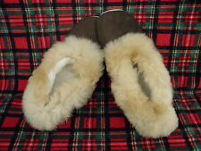 Brand New Peru Unisex Alpaca Brown Slippers With Dk Brown Fur W 9.5 M 8 Euro 41