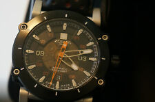 NWT Zodiac Men's ZMX-02 Swiss Automatic with Black & Orange Leather ZO8570