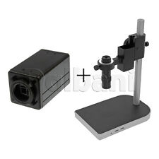 New Digital Microscope Camera Body with Stand and Lens 1600x1200 Black C-Mount