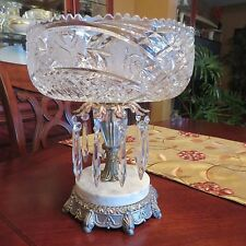 VINTAGE CRYSTAL COMPOTE BOWL WITH PRIMS..REDUCED..MUST SELL..