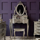 SALE Rococo French Style SILVER Dressing Table inc Stool and Mirror NEW Louis