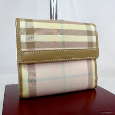 Rare Vintage Burberry Pink Check Small Ladies Wallet Purse Very Good Condition