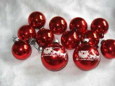 Vintage Lot Red Glass Christmas Ornaments White Flocked Horse Drawn Carriage