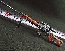 1:6 Mini Toys SVD Snayperskaya Vinyovka Dragunov Full Metal Sniper Rifle Model