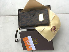 Michael Kors Monogramed leather flip wallet/case For iPhone 6 Plus 5.5'' brown