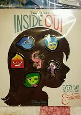DISNEY Pins  Booster Set INSIDE OUT - 6 pin set - NEW Free Shipping