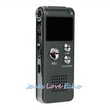 8GB 650Hr USB Digital Audio Voice Recorder Dictaphone MP3 Player Black