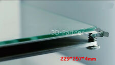 3D Printer Print Table Borosilicate Glass Plate 257x229x4mm for UM2 heated bed