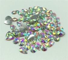 Nail Art Fashion Flatbck Crystal AB ResinJewelry Round Rhinestone 200Pcs 5x 8mm