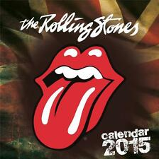 SALE !! SALE !! UK SQUARE 2015 OFFICIAL WALL CALENDAR OF ROLLING STONES