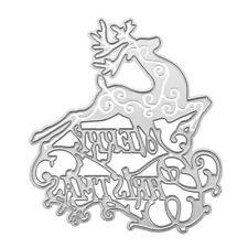 Metal Christmas Deer Cutting Dies Stencil DIY Scrapbooking Album Cards Craft