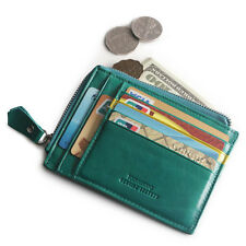 Women Leather Credit Card Case Coin Purse Wallet Business ID Card Storage Holder