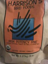 5 lb BAG Bird Food Pellets HARRISONS High Potency FINE Organic Quaker Conure