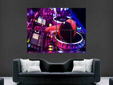 DJ MUSIC HEADPHONES PIONEER CDJ CLUBBING NIGHTCLUB  GIANT POSTER PRINT ART