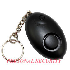 PERSONAL SECURITY 120dB OVAL Panic Alarm,Safety Guard Siren LED Light Torch