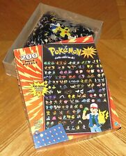 PoKeMon Poster Puzzle Character Collector Chart 200 pc vtg 1999 Hasbro