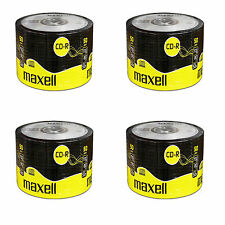 200 Maxell CD-R 80 Discs Recordable 700MB 80Min 4 x 50 Pack Shrink Wrap CDR80
