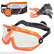 Delta Plus SABA Clear Safety Goggles Glasses Specs Latex Free Grinding Metalwork