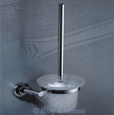 RD Brass & Chrome Wall Mounted Toilet Brush & Holder - Bathroom Accessory 9590