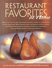 Restaurant Favorites at Home - 150 recipes from editors of Cook's Illustrated HB