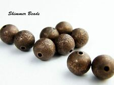 Brass Textured beads-Antique copper 10mm-Bohemian-Aged  (40)