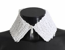 NWT $120 FOREVER by Giuliana Ogliari White Raffia Neck Tie Wrap Collar