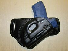 S&W M&P SHIELD, WITH CT LASER, FORMED LEATHER, SOB,OWB, BELT HOLSTER, RIGHT HAND