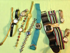 Nice lot of ladies name brand watches,all intact &need batteries,part/repairP111