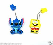 LOT 2 COLLECTIBLE LILO & STITCH + SPONGEBOB SQUAREPANTS 32GB USB THUMB DRIVES