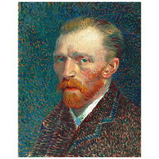 Van Gogh, Self Portrait Deco FRIDGE MAGNET, 1887 Fine Art Repro Mini Gift